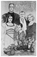 The Munsters Montage by Knight-of-olde