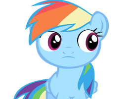Rainbow dash looking at her left by Supermanxdlolol