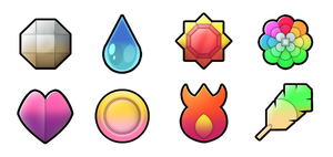 Kanto 6 Generation badges by Pokemon-Diamond