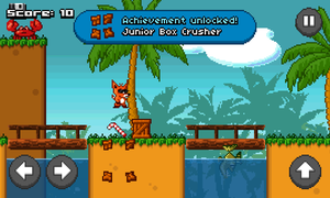 Screenshot of Cool Fox - A Retro Platform Game by g0phR