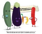 The Tenth Annual Phallic Food Convention by SenorDoom