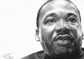 Martin Luther King, Jr. by earlierbirdscenic