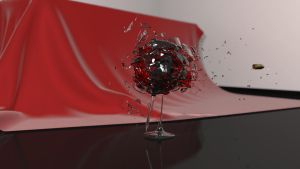 Simulation: Wine Glass Shatter by zeebow14