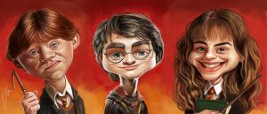 HARRY, RON and HERMIONE by JaumeCullell
