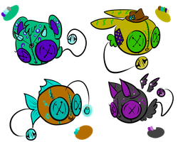 Button Bells Adopts (0/4 CLOSED) by Adoptables-On-Board