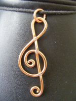 treble clef copper by BacktoEarthCreations