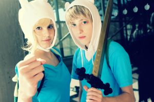 Finn and Fionna by twistedup