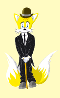 Tails as Charles Chaplin by GaussianCat