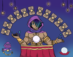 Blue Team [Day 5] Fortune Teller by paintedpaper