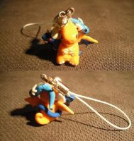 Dragonite evolution line charm by LauraKitazawa