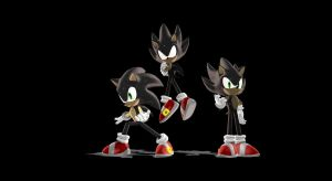 (MMD): SD Dark Sonic`s Pack by Modern-Sonic