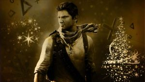 Uncharted 3 - Xmas Wallpaper by mattsimmo