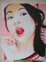 Girl with a cherry by jason-legon