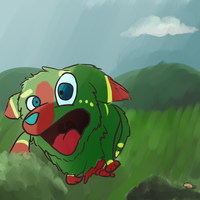 Twister running from a mouse by Owsouu