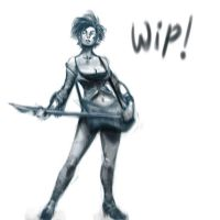 Rock chick wip by BaderBadruddin
