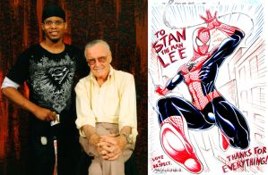 Stan the Man and Spiderman by maxblackrabbit