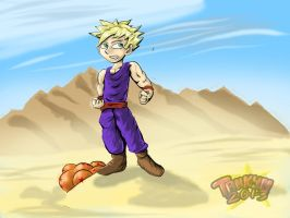 Gohan In The Desert by Tahkyn