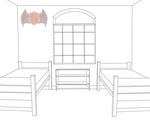 SMALL AND SIMPLE DORM ROOM TEMPLATE by kikikittykat