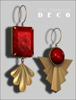 Just Earrings Deco p1 by inception8