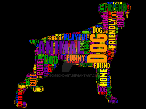 Dog 5 typography by somsongart