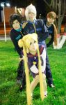 Three Lights and Usagi Tsukino School Cosplay by SailorMappy