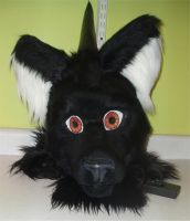 Fursuit head update by DrakonicKnight