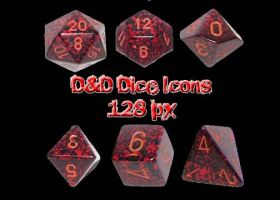 D and D Dice Icons by muutus