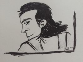 Loki is Watching You! #Inktober day 11 by TemperTempest