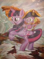 Spike Crossing the Alps by recycledrapunzel