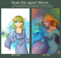 Draw this Again Meme Adelaine by MandarinOrange