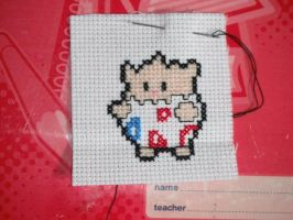 Togepi cross stitch by dottypurrs
