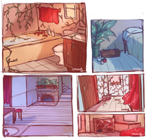 Interior sketches by TwigPrince