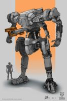 Tactical Warfield - Combat mech by Loone-Wolf