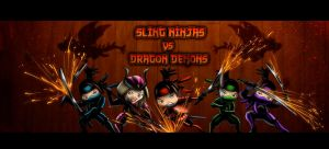 Sling Ninjas vs Dragon Demons by AkshayArtPawar