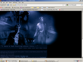 Old website design: I have a Bad feeling about thi by jadedlioness