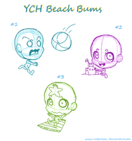YCH: Beach Bums Auction *CLOSED by Nikkoleon