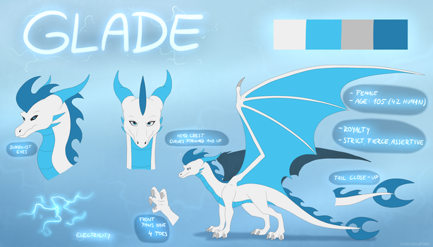 Glade Reference Sheet - commission by IcelectricSpyro