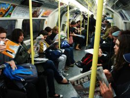 London - On the Tube by AoiNoKitsune