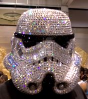 Bedazzeled Stormtrooper head by creativesnatcher69
