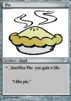 Pie magic the gathering card by OMGanOstrich
