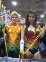 Aquaman And Wonder Woman by WhiteFox89