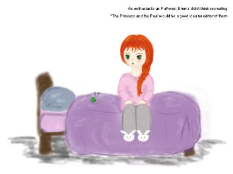 Princess Emma and the Pea Puff by EvieFae