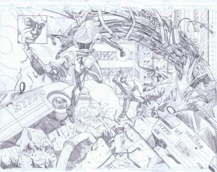 New Avengers vs. Magneto Dbl. by praire-storm