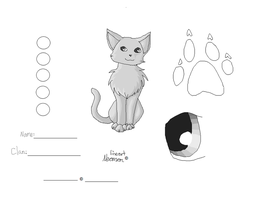 Cat Ref Lineart by neomon