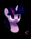 DISEMBODIED TWILIGHT HEAD by TallaFerroXIV