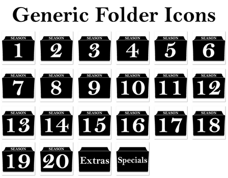 Generic season folder icons by Vamps1