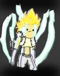 Sting Dragon Force-Fairy Tail-Adventure Time style by Musical-Coffee