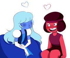 Ruby and Sapphire by Imginarygirl