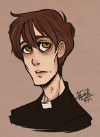 a portrait of the priest as a constantly tired man by sadademort