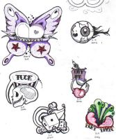 Random Tattoos by BelligerentButterfly